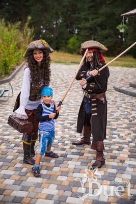 Джек Воробей и Элизабет - Пираты на детский праздник
