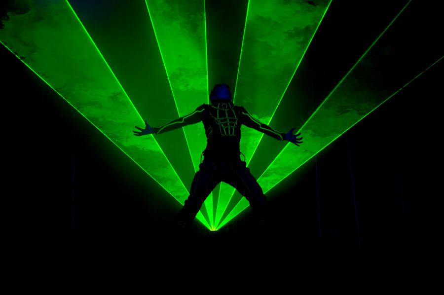 Laser man show - Лазерное шоу